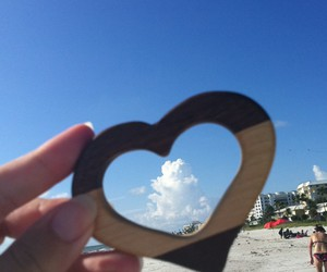 beach, cloud, and heart image