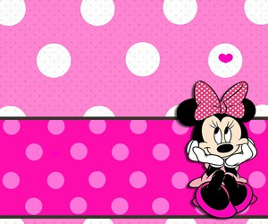minnie mouse, pink, and wallpaper image