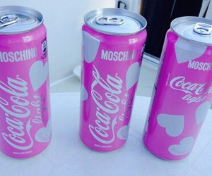 cocacola, heart, and pink image