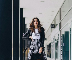 fall fashion, leather, and street style image