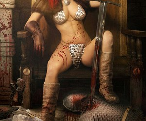 fantasia, girl, and Red Sonja image