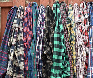 flannel, shirt, and style image