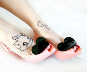 shoes, tattoo, and cat image