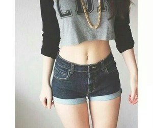 girl, shorts, and outfit image