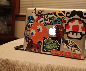 vans, apple, and laptop image