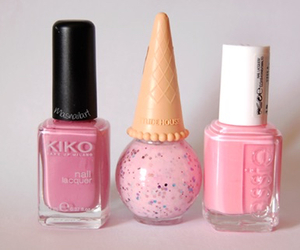 pink, nails, and nail polish image