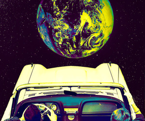 car, space, and couple image