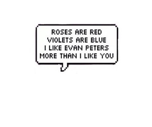 funny, evan peters, and poem image