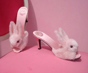 pink, bunny, and slippers image