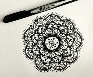 drawing, draw, and zendala image