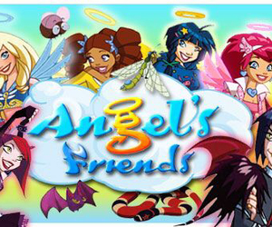 angel, cartoon, and devils image