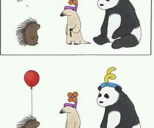 funny, balloons, and animal image