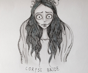 art, bride, and corpse image