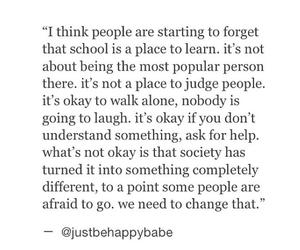 happy, live, and school image