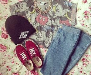 vans, outfit, and jeans image