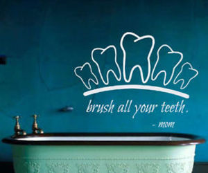 quote, tooth, and wall decals image