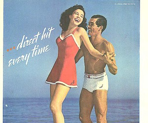 advertising, vintage, and girl and man image