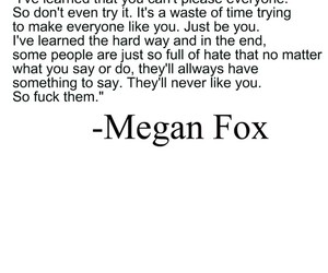 megan fox, text, and smart chick image