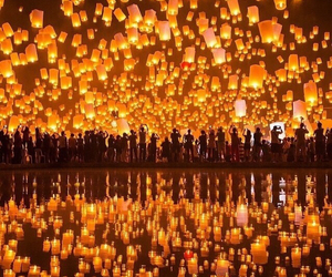 beautiful, lights, and thailand image