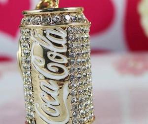 coca cola, gold, and coca-cola image