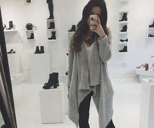 cardigan, outfit, and fall fashion image