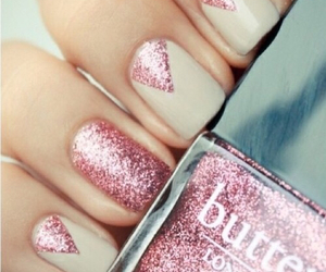 glitters, nailpolish, and pink image