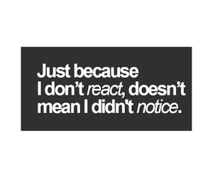 notice, react, and quote image