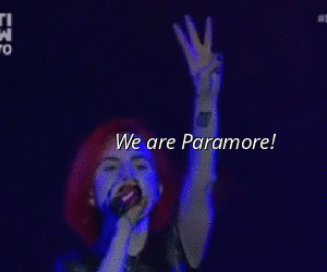 paramore, hayley williams, and live image
