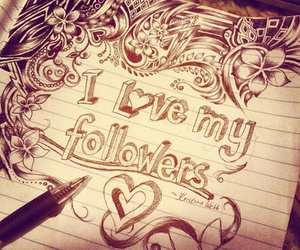 followers, heart, and drawing image