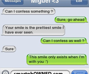 couple, text, and smile image