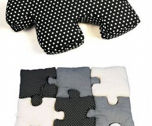 puzzle, diy, and pillow image