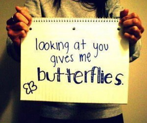 butterflies, girl, and love image