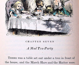 alice, mad, and mad tea party image