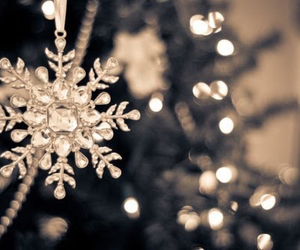 christmas, lights, and snowflake image