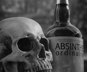 alcohol and skull image