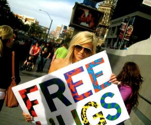 free hugs, hugs, and street image