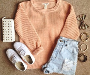 glam, pastel, and sweater image