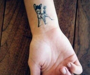 tattoo, bambi, and butterfly image