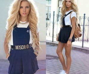 fashion, Moschino, and outfit image