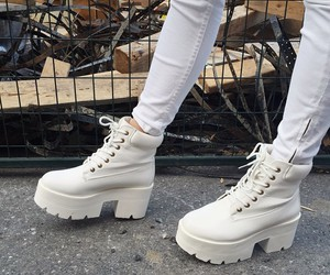 white, boots, and girl image