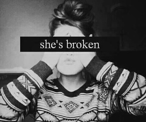 alone, broken, and girl image