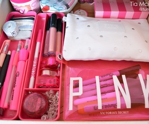pink, Victoria's Secret, and makeup image