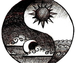 sun, moon, and drawing image