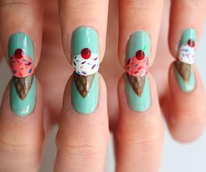 nails, ice cream, and nail art image