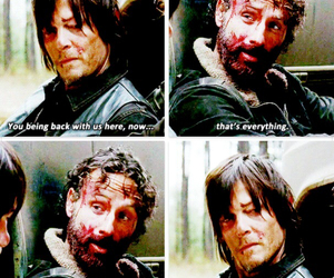 bromance, rick, and the walking dead image