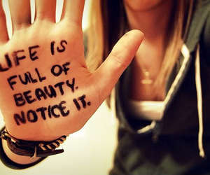 life, beauty, and hand image