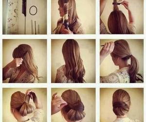 brunet, dark, and hair image