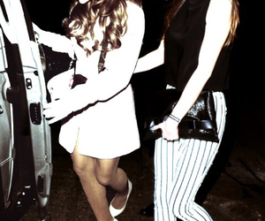 ariana grande, eleanor calder, and one direction image