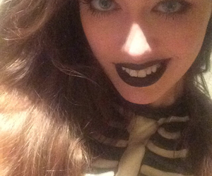 beauty queen, black, and black lips image