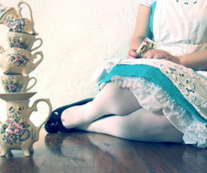 alice in wonderland, tea, and alice image